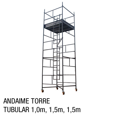 Andaime torre tubular 1,0m, 1,5m,1,5m