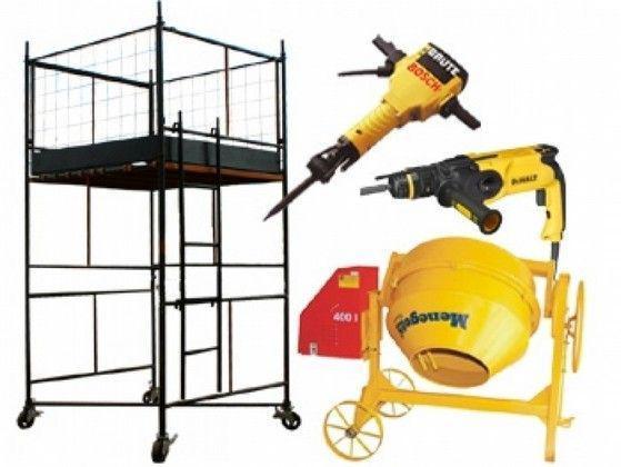 Aluguel de equipamentos para obra